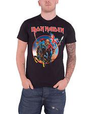 Iron Maiden Camiseta Euro Tour 2013 Trooper banda logotipo oficial hombre nuevo Negro