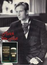 PUBLICITE ADVERTISING   1988   VAN GILS  parfum eau de toilette MATCH fete NOEL