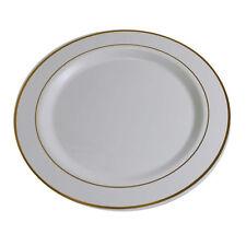 60 Disposable Heavy Plastic Dinnerware Plate, Dinner/Dessert Plate for Wedding