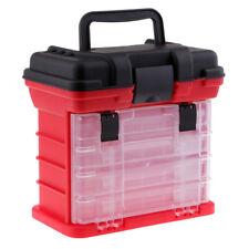 Angelkoffer & -boxen Wasserdicht 6 Fächer Aufbewahrungsbox Box Angelhaken Tackle Box Rot