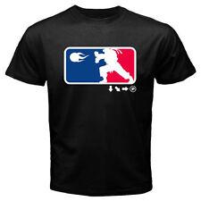 New RYU HADOUKEN Combination Game Fans Men's Black T-Shirt Size S to 3XL