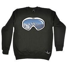 Ski Goggles Powder Monkeez UK SWEATSHIRT birthday gift skiing snowboarding