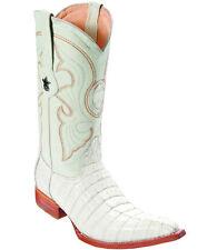 Los Altos Genuine WINTER Caiman CROCODILE Tail 3x Toe Western Cowboy Boot EE