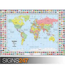 Le mappe e Bandiere (1037) foto fotografia stampa poster art A0 A1 A2 A3 A4