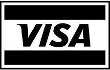 p682 - Targeta de Credito Visa Pegatina Decals Vinilo Sticker Adhesivo Cristal