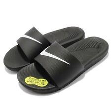 reputable site c8101 e2d0b Nike Kawa Slide GS PS Black White SolarSoft Youth Women Sports Sandal  819352-001