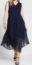 Sheego Eventkleid Abendkleid Kleid Gr. 42 - 58 Blau Ton (679)