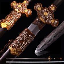 New Swordsman Gentleman Sword pattern steel with clay tempered blade sharp #0137