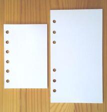 Personal Organiser Refill Plain Paper Note Inserts Fit Filofax Pocket/Personal