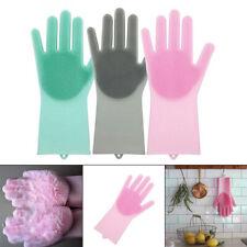 1Pc Magic Silicone Dish Washing Gloves Scrubber Heat Resistant Scrub Tool