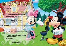 5 ou 12 cartes invitation anniversaire MICKEY ref 19 avec ou sans envl imprimées