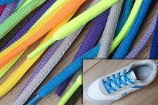 Piso Acolchado Oval De Color De Zapato Laces Cordones bootlaces - 24 Colores 120cm