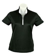 Womens Short Sleeve Black Sports Golf Polo