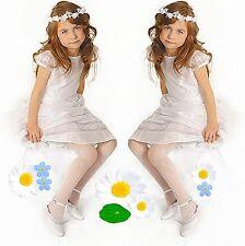 KOMMUNION Mädchen Strumpfhose weiß Blumenmuster 2 Fest Blumenmädchen 116-146