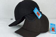 BROWN or BLACK Cashmere like BASEBALL TRUCKER TRAPPER EARFLAP CAP HAT M-4XL NWT