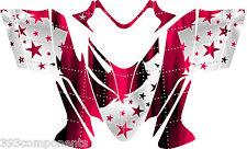 Polaris IQ RMK Shift Dragon Graphics Decal Sticker Kit 2005 - 2012 Stars Pink