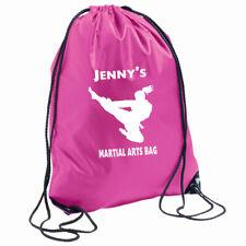 Karate Bag Personalised Girls Gymsac PE School Add name Martial Arts Judo