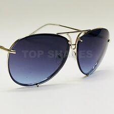 Oversized XL Super Posche Aviator Fashion Designer Twirl Metal Sunglasses Womens