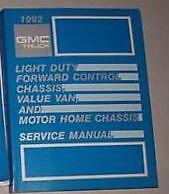1992 GMC Truck Motor Home Value Van Service Shop Repair Manual OEM BOOK