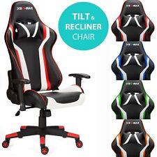 RG-Max Pro Reclinable Sports Racing Para Juegos PC de escritorio de oficina de coche silla de cuero de imitación