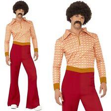 Hombre Años 70 AÑOS 70 Auténtico 70's Hombre Disfraz M-XL NUEVO De SMIFFYS
