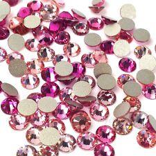 144 Swarovski 2058/2088 crystal flatbacks No-Hotfix rhinestones PINK Colors Mix