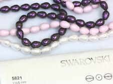 4 X Genuine SWAROVSKI 5821 Pear Shape Crystal Pearls 11x8mm * Many Colors