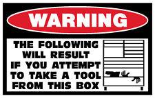 FUNNY TOOL BOX TOOLBOX CNC MACHINE MACHINIST MECHANIC STICKER DECAL DRAWER 171