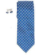 Men's 100% Silk Wedding Neck Tie And Cufflinks set Collection