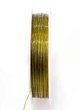 2m - 5m ou 10m Fil Aluminium 0.5mm Couleurs Doré pour bijoux, Tiger Tail