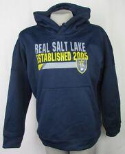 Real Salt Lake MLS Adidas Climawarm Women's Navy Pullover Hoodie EST. 2005