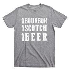1 Bourbon Scotch Beer T Shirt Jack Daniels Jim Beam Whiskey Country Music Tee
