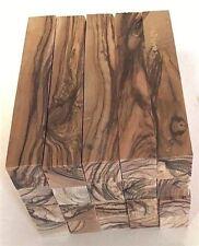DARK GRAINS& EXTREMELY FIGURED ~ Bethlehem Olive Wood Pen Turning Pen Blanks