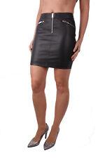 Diesel r-yusra Gonna FALDA mujer falda de cuero falda negra