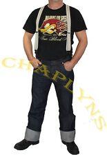 Jeans Vintage Rockabilly 14 0z Bluejeans Chaplyns Japan-Jeans Raw Denim Hotrod