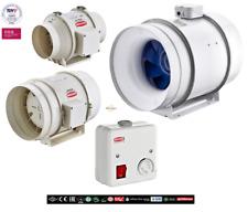 Axial Rohrventilator 100 125 150 200 250 315 Rohrlüfter Lüfter + Drehzahregler