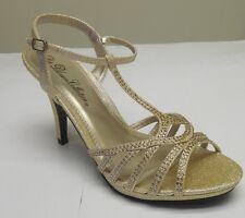 De Blossom Women's Spirit-1 Stunning Champagne Sparkle Rhinestone Evening Heels