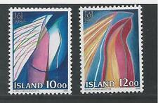 ICELAND # 635-636 MNH CHRISTMAS 1986