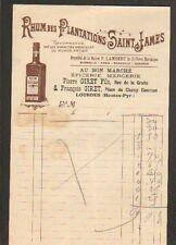 """LOURDES (65) RHUM PLANTATIONS SAINT JAMES """"Au Bon Marché / P. & F. GIRET"""""""