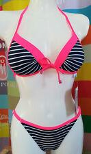 Self Collection Push Up Bikini 34-36-38-40 Cup A-B-C koralle//braun S880B neu