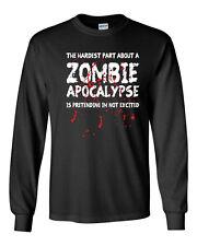 075 Zombie Apocalypse Long Sleeve Shirt funny zombie walking dead walker dixon