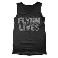 Flynn Lives Retro Funny Tron Gamer Humor Movie Black Tank Top