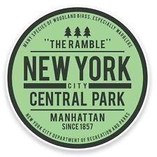 2 x Central Park New York USA Vinyl Sticker Travel Car Luggage #9116
