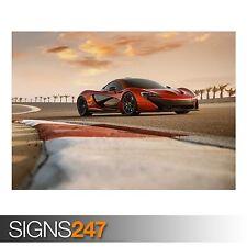 McLaren P1 TEST DRIVE (AB170) POSTER AUTO-FOTO stampa poster art * Tutte le Taglie