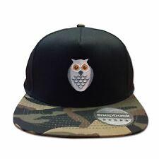 Mens Snapback Cap Retro Style Six Panel Hip Hop Owl Face Baseball Summer Hat