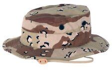 NEW USMC DESERT STORM BANCROFT BOONIE HAT CAP DESERT 6 COLOR CAMO CHOCOLATE CHIP