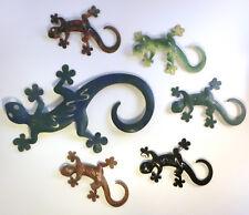 Gecko aus Metall, rostfrei, Gartendeko Balkondeko Sommer Wanddeko Wandschmuck