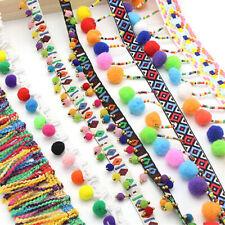 Dress Pompom DIY Craft Sewing Tassel Lace Trim Embroidered Bohemia Ribbon