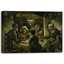 Van Gogh i mangiatori di patate quadro stampa tela dipinto telaio arredo casa