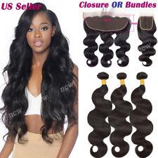 13*4 Frontal Lace Closure 7A Virgin Human Hair Extensions Weave Bundle Brazilian